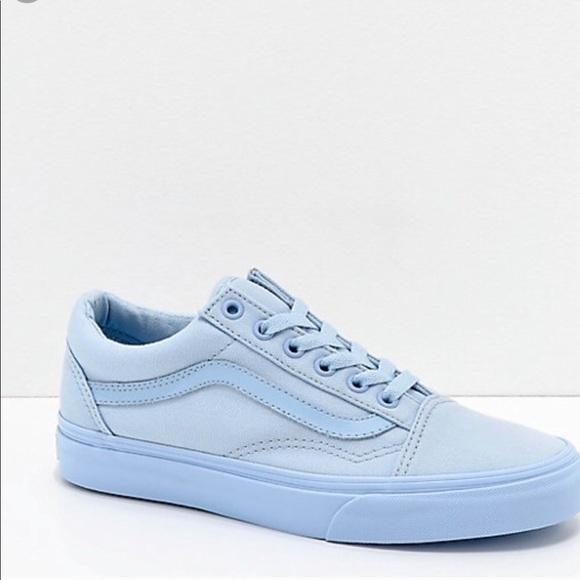 0746a393b0f13b Pastel Blue Old School Vans. M 5bf897d845c8b3d574dc3b85